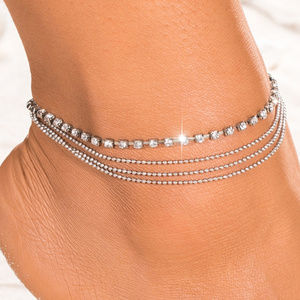 Jewelry - Crystal Ankle Bracelet Sexy Four Strand Anklet New